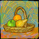 un panier de fruits