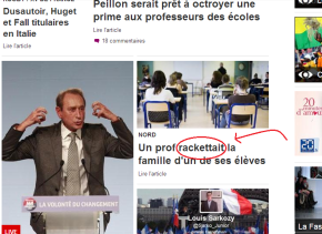 Word In The (French) News: Racketter
