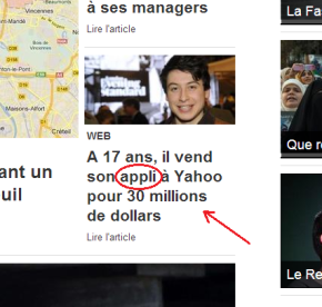 Word in the (French) News: Appli