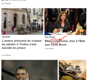 Word In The (French) News: coûter