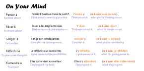 "Verbs followed by ""à quelque chose"""
