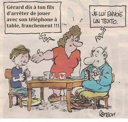 comic textos à table