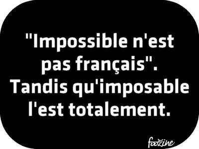 impossible imposable